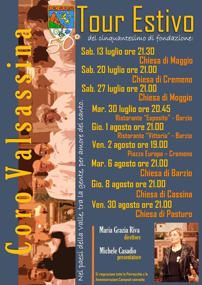 Tour estivo Coro Valsassina