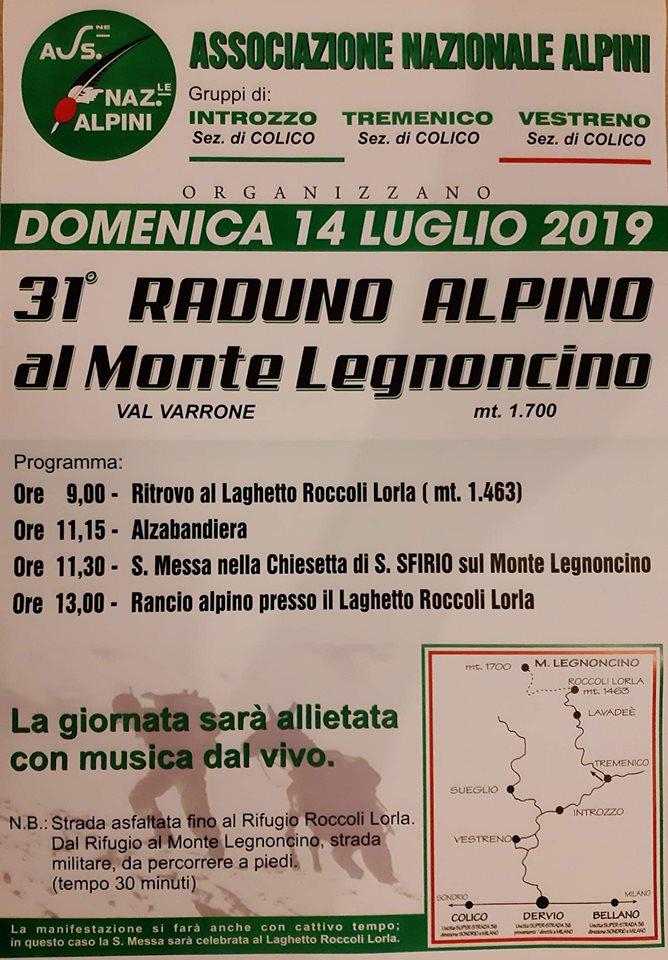 31° Raduno Alpino al Monte Legnoncino