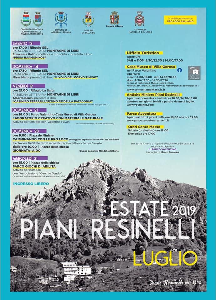 Estate 2019 ai Piani Resinelli