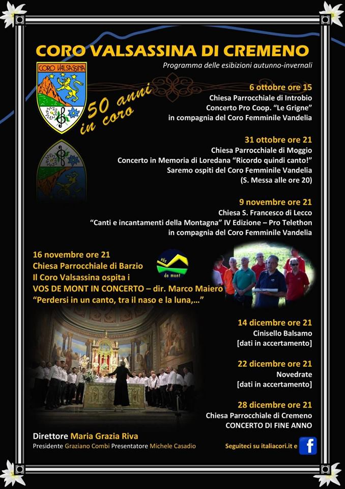 Concerti d'autunno del Coro Valsassina