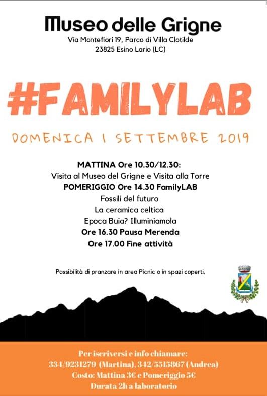 Familylab con Ecomuseo delle Grigne