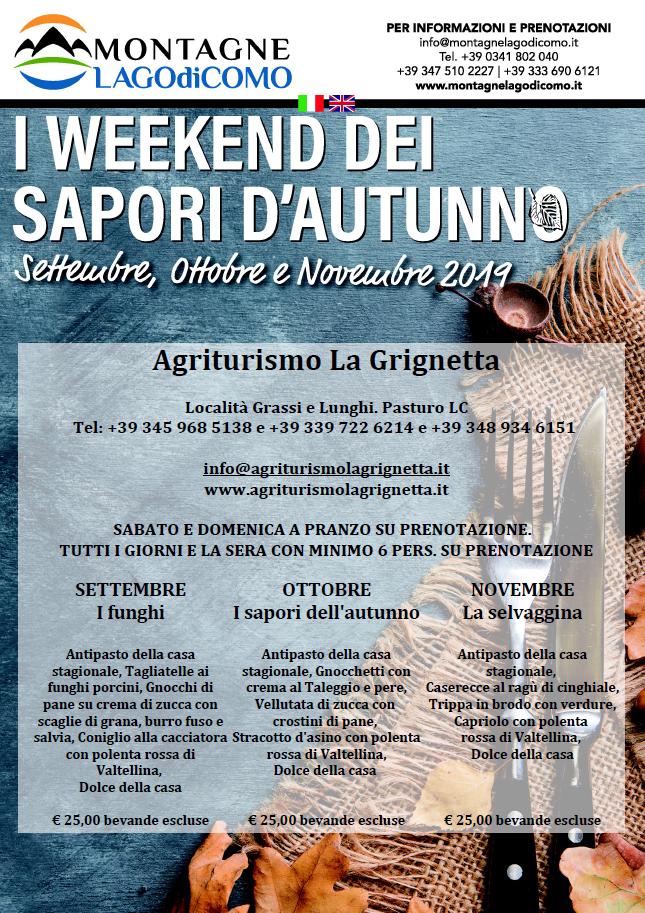 I Weekend dei Sapori d'Autunno all'Agriturismo La Grignetta