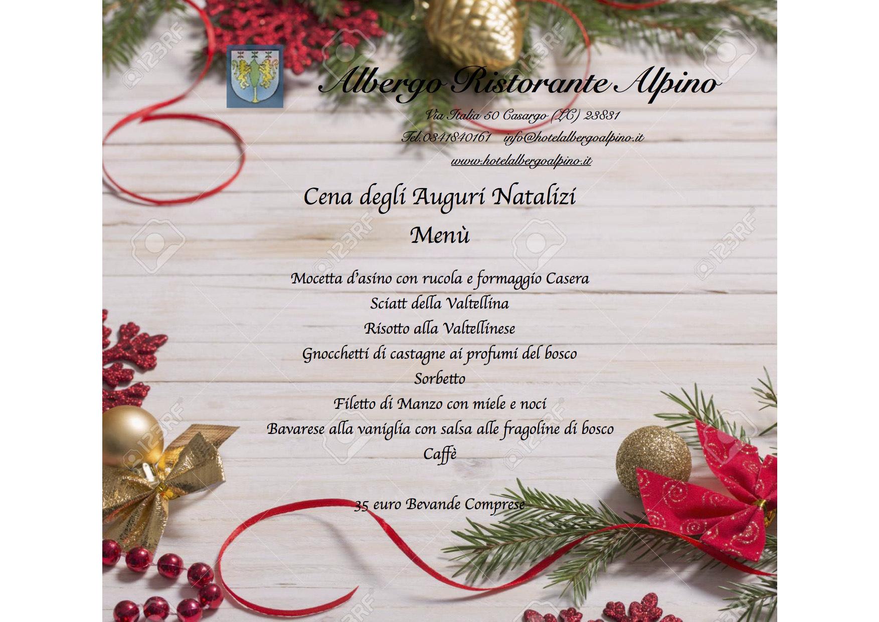 Cena Auguri Di Natale.Cena Per Gli Auguri Di Natale All Albergo Alpino Lago Di Como E Valsassina