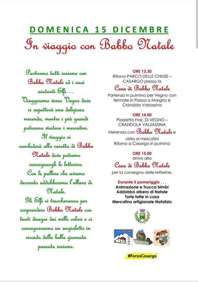 Descrizione Di Babbo Natale Per Bambini.In Viaggio Con Babbo Natale A Casargo Lago Di Como E Valsassina